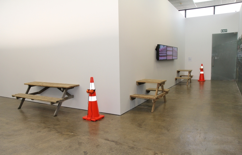 Right of Way (Installation) Artspace, AKL, NZ Janet Lilo 2013